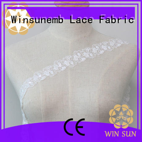 high-end lace trim decorative in china for lingerie