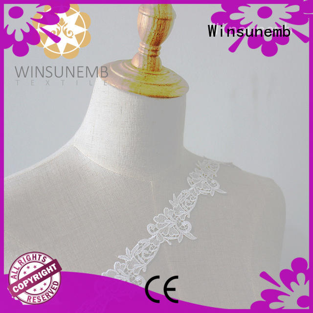 Winsunemb bridal elastic laces order now for fashion garment