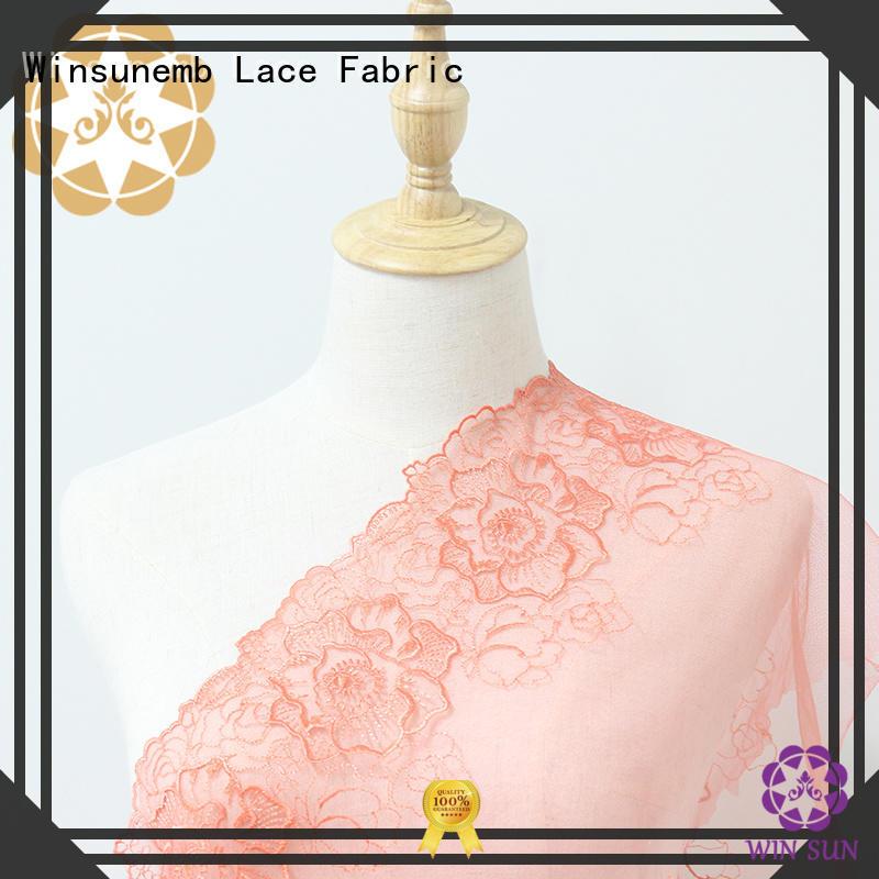 childrens graceful water red lace fabric Winsunemb Brand