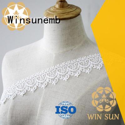 Winsunemb dress stretch lace fabric in china for fashion garment