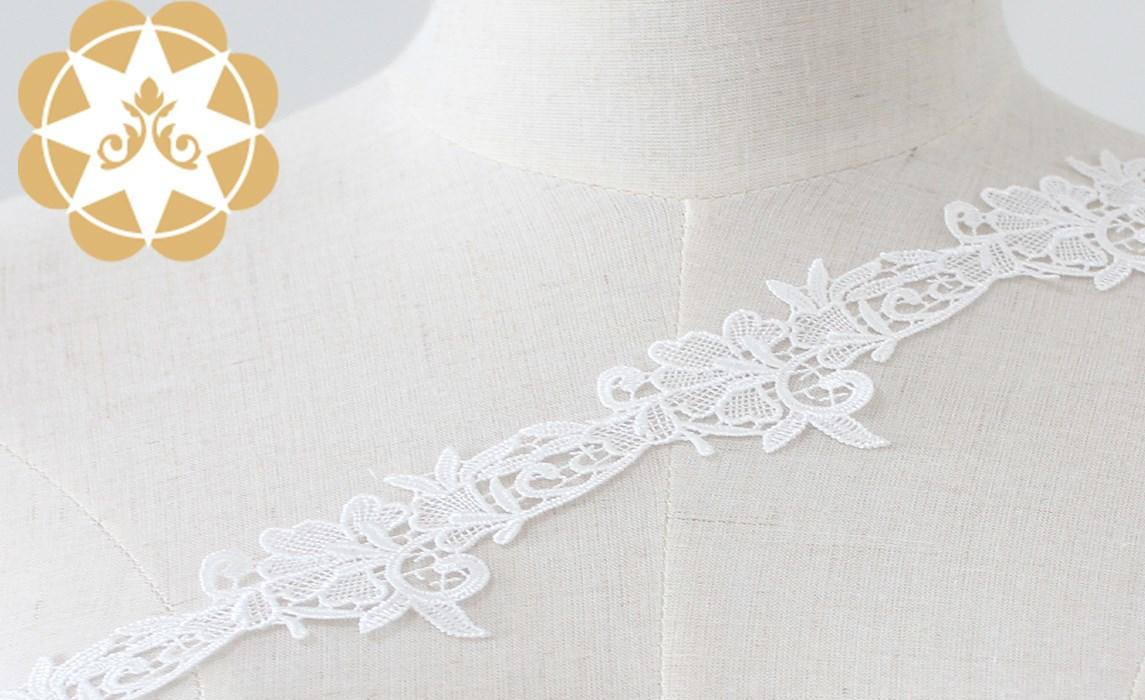 soft lace ribbon cotton bulk production for fashion garment-1
