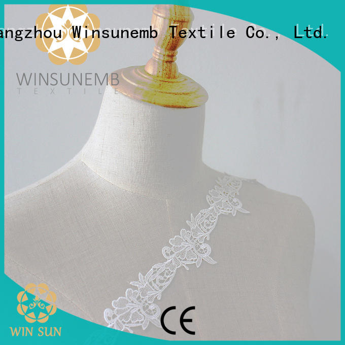Winsunemb winsunem Embroidery Lace Trimming bulk production for lingerie