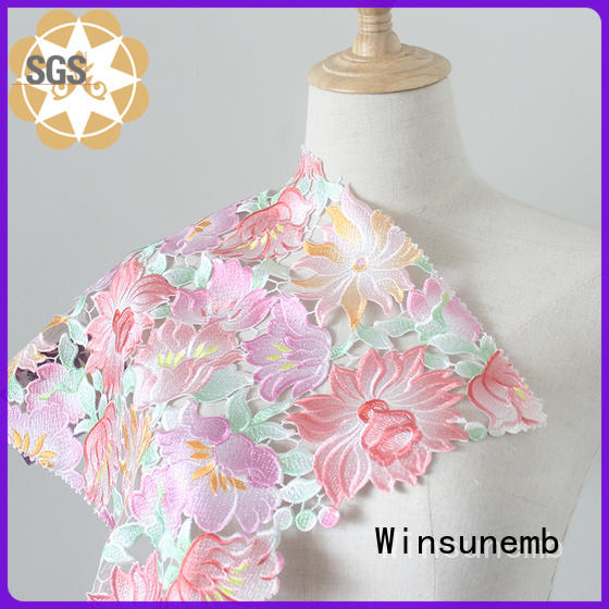 Winsunemb position printed lace fabric in china for sofa