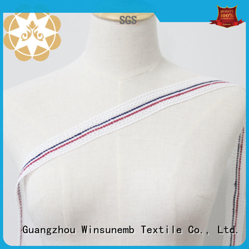 wholesale eyelet embroidery lace Mulberry Silk base fabric red and blue concise lace trim