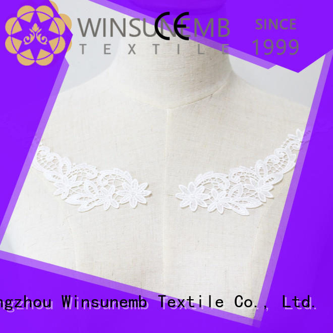 dress collar applique designs Winsunemb manufacture