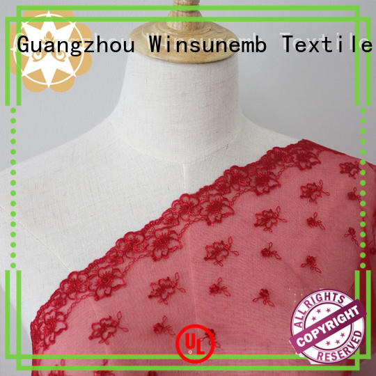 clothing white lace material for manufacturer for underwear Winsunemb