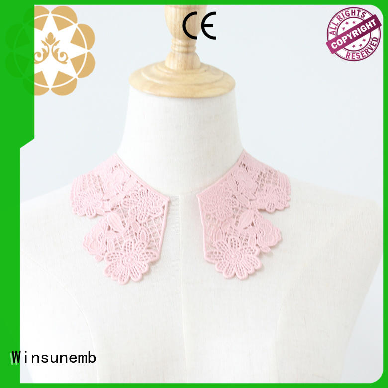 Winsunemb good looking lace neckline dropshipping for DIY