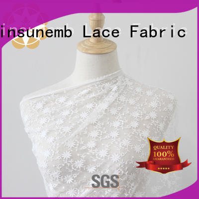 evening wear polyester Embroidery Lace Fabric tulle Winsunemb