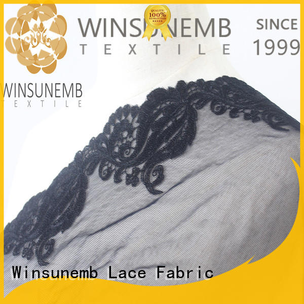 Winsunemb exquisite stretch lace fabric in china for DIY