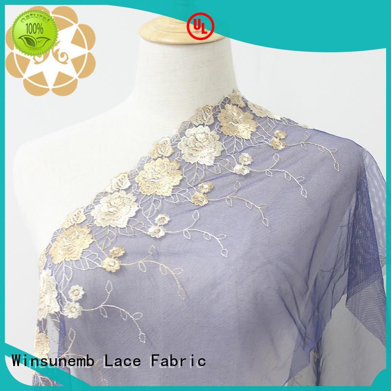 enchanting eyelet lace producer for lingerie Winsunemb