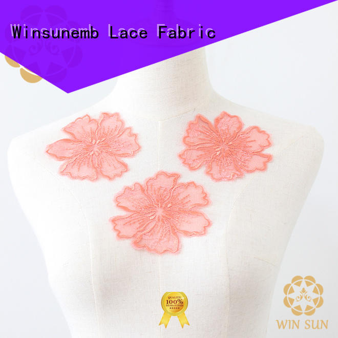 Winsunemb good looking lace neckline factory price for decorate