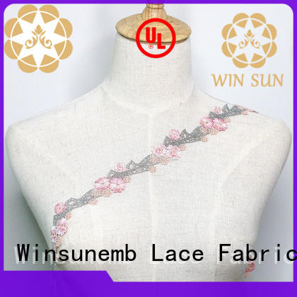 Winsunemb Brand design stretch lace floral supplier