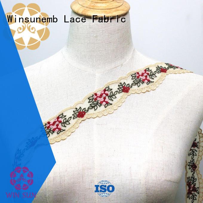 Embroidery Cotton Lace Trim Eyelet Flower Lace Trim