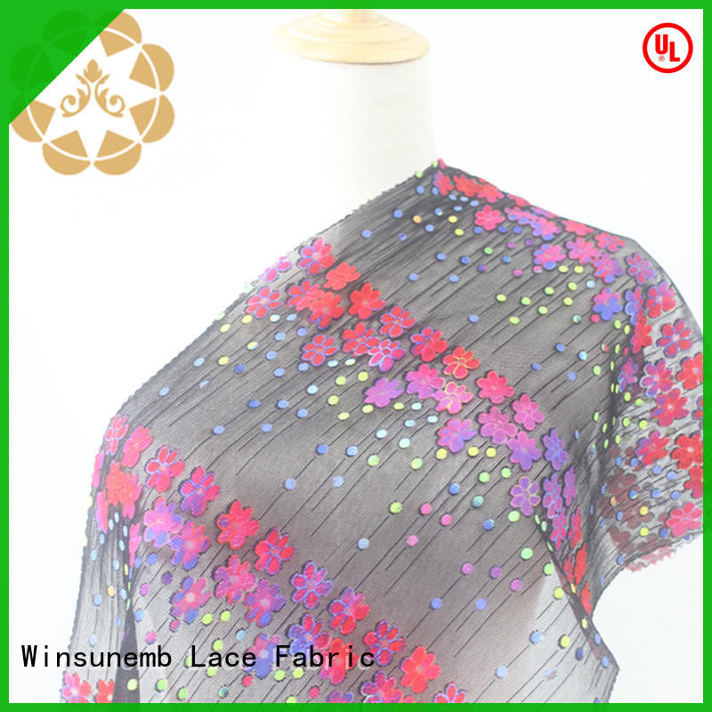 good looking printed lace fabric gowns dropshipping for printed fabric