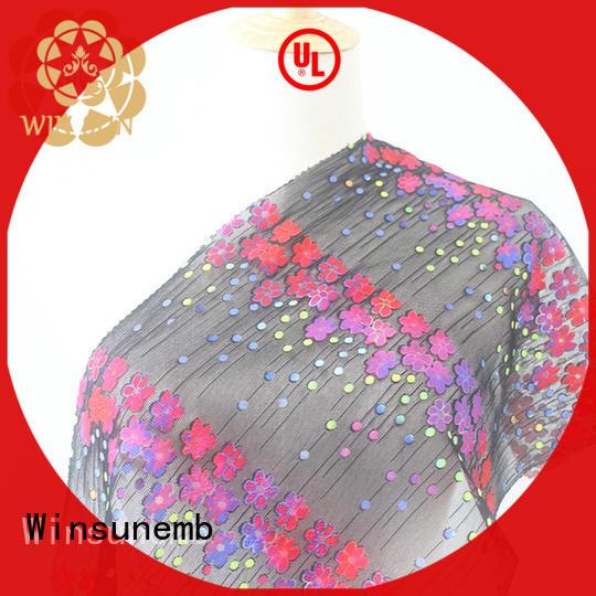 Winsunemb curtain Printed fabric bulk production for table cloth