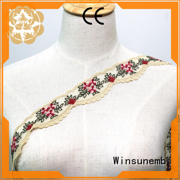 Winsunemb 9cm lace fabric order now for fashion garment