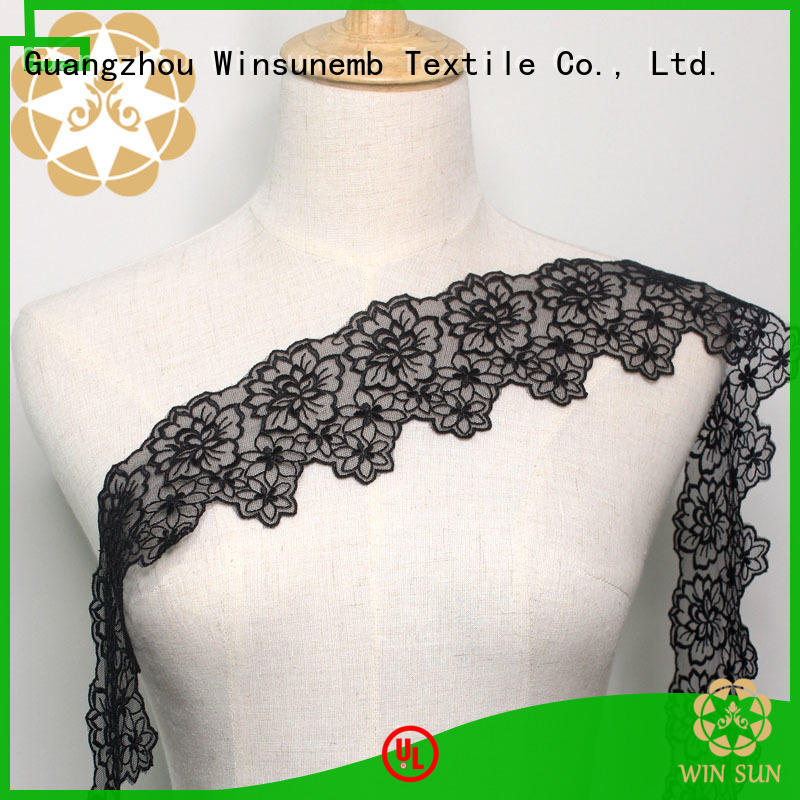 Winsunemb colorful Embroidery Lace Trimming for manufacturer for DIY