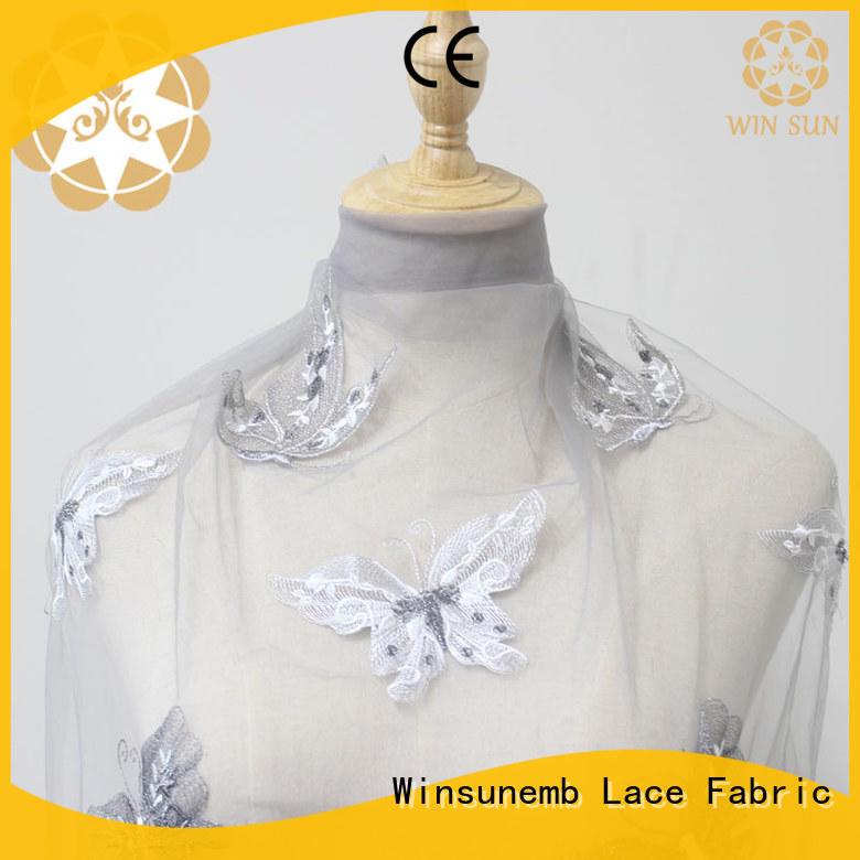 Winsunemb metallic lace material shop now for underwear