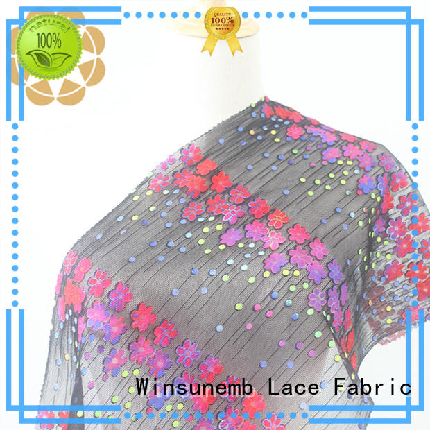soft printed lace fabric for manufacturer for table cloth